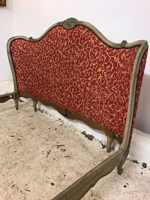 Antique King Size Bed - Curved Head and Foot Boards - g140
